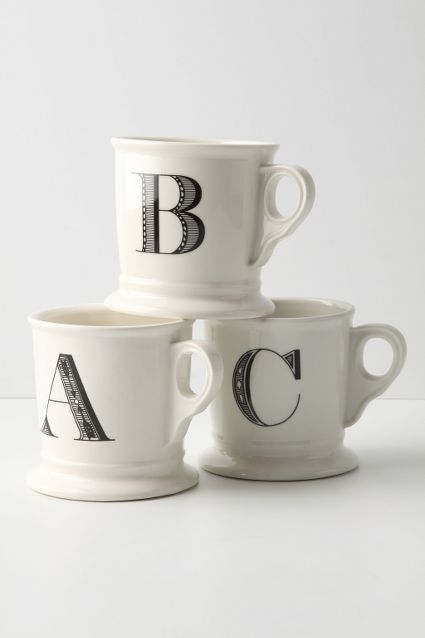 Monogram Mug - Anthropologie